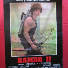 Afis cinema vechi Rambo 2, afis film Rambo II