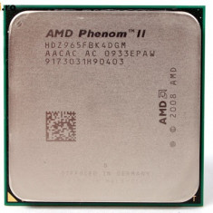 Procesor Quad Core Am3 AMD Phenom II X4 965 Black Edition 3.4Ghz 6MBL3 125W TRAY - Procesor PC AMD, Numar nuclee: 4, Peste 3.0 GHz