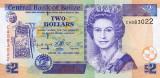 BELIZE █ bancnota █ 2 Dollars █ 1999 █ P-60a █ UNC █ necirculata