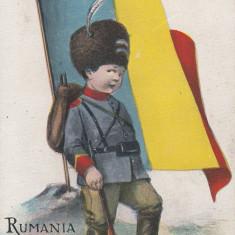 ROMANIA, RUMANIA, DRAPELUL TARII, DRAPELUL ROMANIEI - Carte postala tematica, Necirculata, Printata