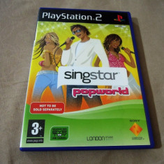 Joc Singstar Popworld, PS2, original, alte sute de jocuri! - Jocuri PS2 Sony, Simulatoare, 12+, Single player