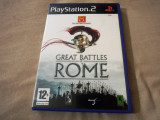 Joc History Channel Great Battles of Rome, PS2, original, alte sute de jocuri!, Strategie, 12+, Single player