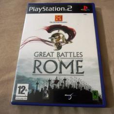 Joc History Channel Great Battles of Rome, PS2, original, alte sute de jocuri!, Strategie, 12+, Single player