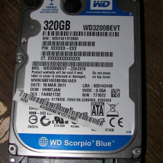 HDD SATA2 Hard disk Laptop 320gb WESTERN DIGITAL WD3200BEVT 5400RPM 8MB REDUS - HDD laptop Western Digital, 300-499 GB