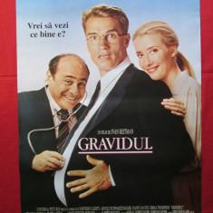 Afis cinema vechi Gravidul, afis film de colectie