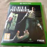 Crimes and Punishments Sherlock Holmes, XBOX One, original, alte sute de jocuri! - Jocuri Xbox One, Actiune, 16+, Single player