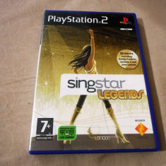 Joc Singstar Legends, PS2, original, alte sute de jocuri! - Jocuri PS2 Sony, Simulatoare, 12+, Single player