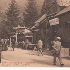 MOLDOVA, SLANIC MOLDOVA, BAZARELE - Carte Postala Moldova 1904-1918, Stare: Necirculata, Tip: Printata