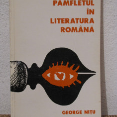 PAMFLETUL IN LITERATURA ROMANA -GEORGE NITU