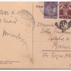 Carte postala Hotel Ferdinand Baile Herculane, semnata Ion Minulescu - Harta Europei