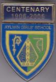 Insigna aniversara 1906-2006 Scoala de fete din Aylwin - Chile