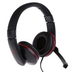 Casti Somic Salar A500 stereo cu microfon, negre - Casti PC