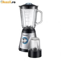 Blender de masa Heinner OptiMix Plus OMX-650P, 600W, 1.5L, 5 Viteze, rasnita NOU