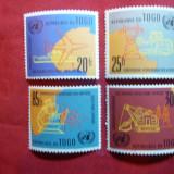 Serie Togo 1961 -ONU -Comisia pt. Africa, 4 val. - Timbre straine, Nestampilat