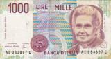 ITALIA 1.000 lire 1990 VF!!!