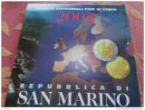 2002 SAN MARINO primul Set monede Euro - KMS, Europa, Cupru-Nichel