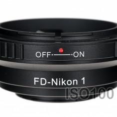 Adaptor Nikon 1 - Canon FD - Adaptor aparat foto