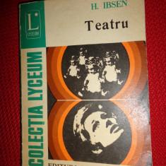 Ibsen- Teatru (O casa de papusi.Strigoii.Rata salbatica)268pag./an 1974 - Carte Teatru