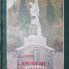 AMINTIRI DIN RAZBOIUL INDEPENDENTEI - GH . SABIN - Istorie