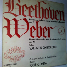 Disc vinil / vinyl - BEETHOVEN - Orchestra simfonica a Radiotv - Iosif Conta - Muzica Clasica electrecord