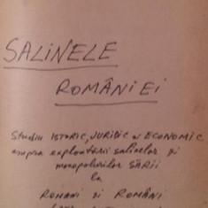 SALINELE ROMANIEI - CONSTANTIN BROSTEANU - Carte de colectie