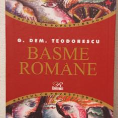 BASME ROMANE -G.M.TEODORESCU - Carte Basme