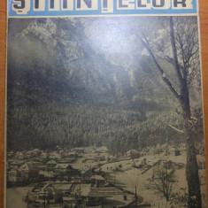 Ziarul stiintelor 12 februarie 1946-foto pe prima pagina, bustenii sub zapada - Revista culturale