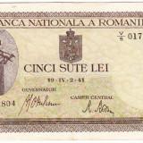 Bancnota 500 lei 2 IV 1941 filigran vertical VF/XF (6) - Bancnota romaneasca