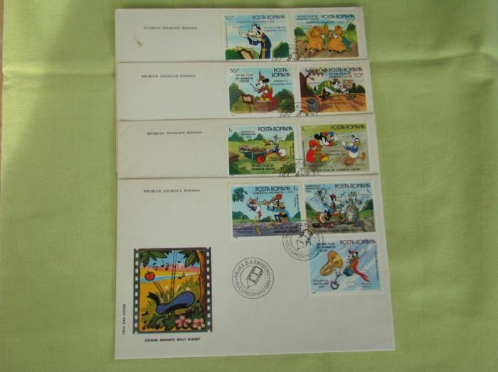 FDC ROMANIA - Walt Disney II - nr. lista 1153