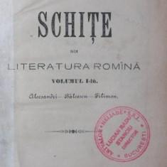 SCHITE DIN LITERATURA ROMANA - NECULAI IORGA - Carte de aventura