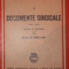 Documente sindicale - Mihail Roller - Istorie