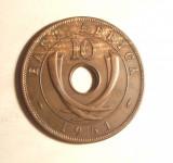 EST AFRICA 10 CENTI 1951