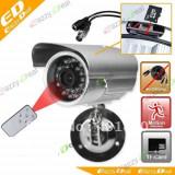 Camera supraveghere inregistrare card Senzor miscare exterior Tv OUT Telecomanda