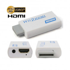 Adaptor convertor consola Nintendo Wii la HDMI cu 3.5mm audio output 1080p - Adaptor interfata PC