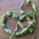Colier cloisonne verde