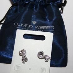 Cercei OLIVER WEBER - precious rhodium cu cristale Swarovski - Cercei Swarovski