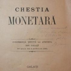 CHESTIA MONETARA - I . G . MUNTEANU - Carte Drept comercial
