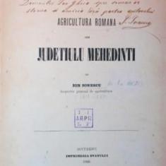 AGRICULTURA ROMANA DIN JUDETIULU MEHEDINTI - ION IONESCU