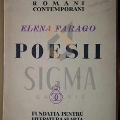 ELENA FARAGO, - POESII, 1937 - Carte de colectie