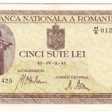 Bancnota 500 lei 2 IV 1941 filigran vertical VF+ (4) - Bancnota romaneasca