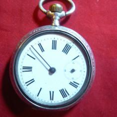 Ceas Buzunar Ancre 15 Rubis, Ligne Droite -defect- pt. piese, cifre romane - Ceas de buzunar vechi