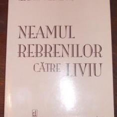 Neamul Rebrenilor, Corespondenta catre Liviu - REBREANU ILDERIM