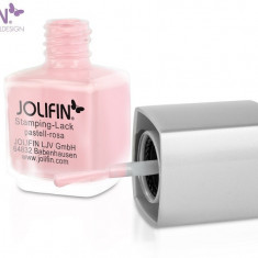Oja speciala Jolifin pt matrita ce se aplica cu stampila, roz 12 ml - Lac de unghii
