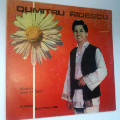 Disc vinil \ vinyl Muzica Populara electrecord DUMITRU RIDESCU - Mandruta nume de floare