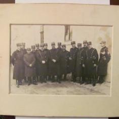 GE - Fotografie foto veche mare grup ofiteri militari romani