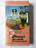 """BAUTURI DE CASA DIN FRUCTE SI LEGUME"", Dorina si Mihai Martin, 1986. Carte noua"