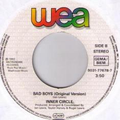 Inner Circle - Sweat / Bad boys (1992, WEA) Disc vinil single 7