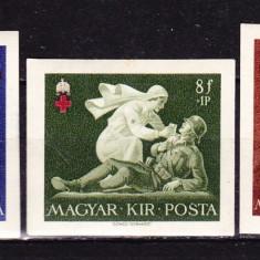 Timbre UNGARIA 1942 = CRUCEA ROSIE NEDANTELAT MNH, Nestampilat