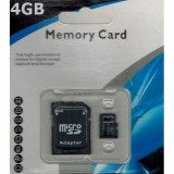 Card micro SDHC 4GB Clasa 4 cu adaptor SD