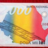 ROMANIA 2000 LEI 1999 CU ECLIPSA NECIRCULATA UNC sr 008D0964330 ** - Bancnota romaneasca